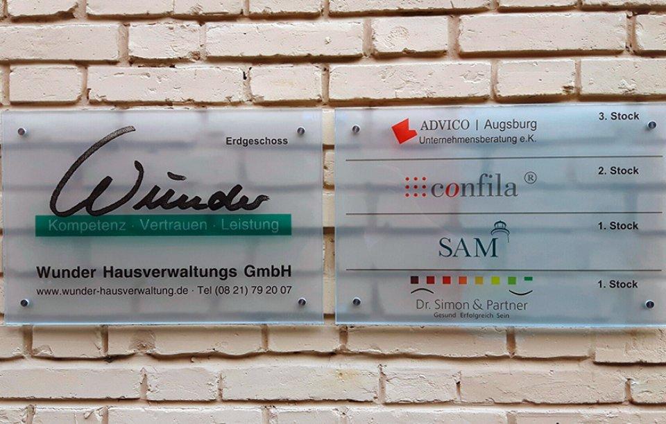 Glasschilder Augsburg